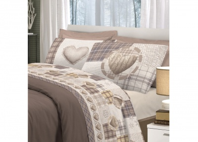 Completo letto matrimoniale 100%Cotone Art. Love Mountain